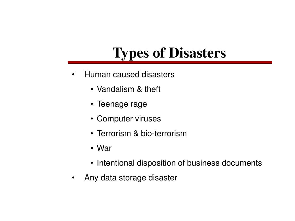 Human caused disasters