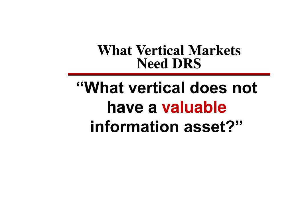 What Vertical Markets