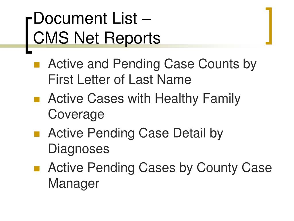 Document List –