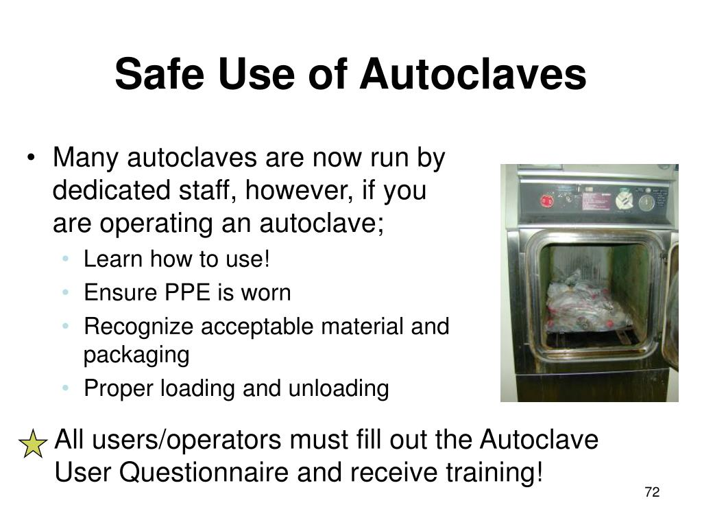 Safe Use of Autoclaves