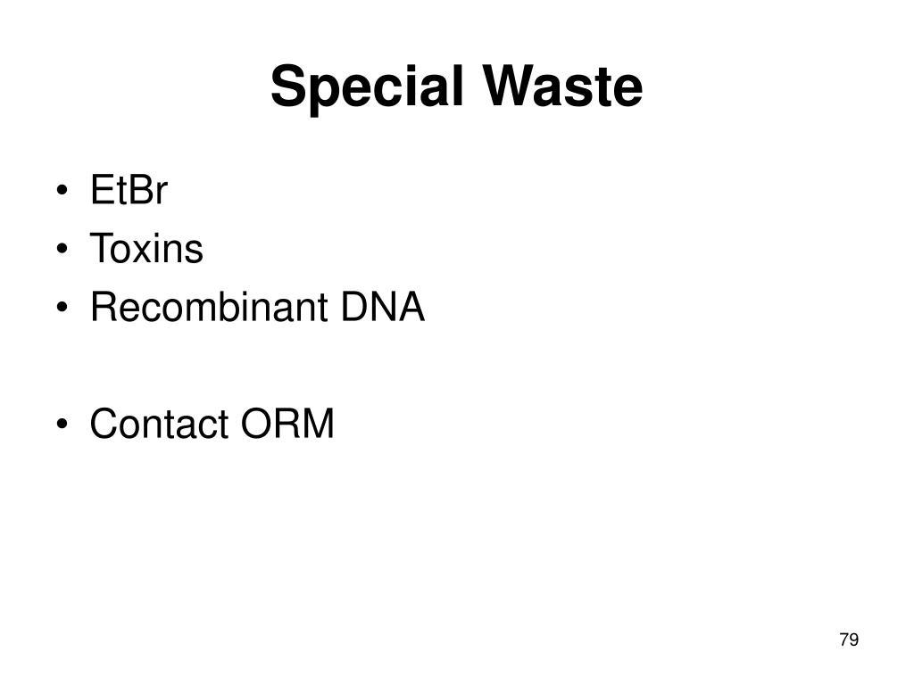 Special Waste