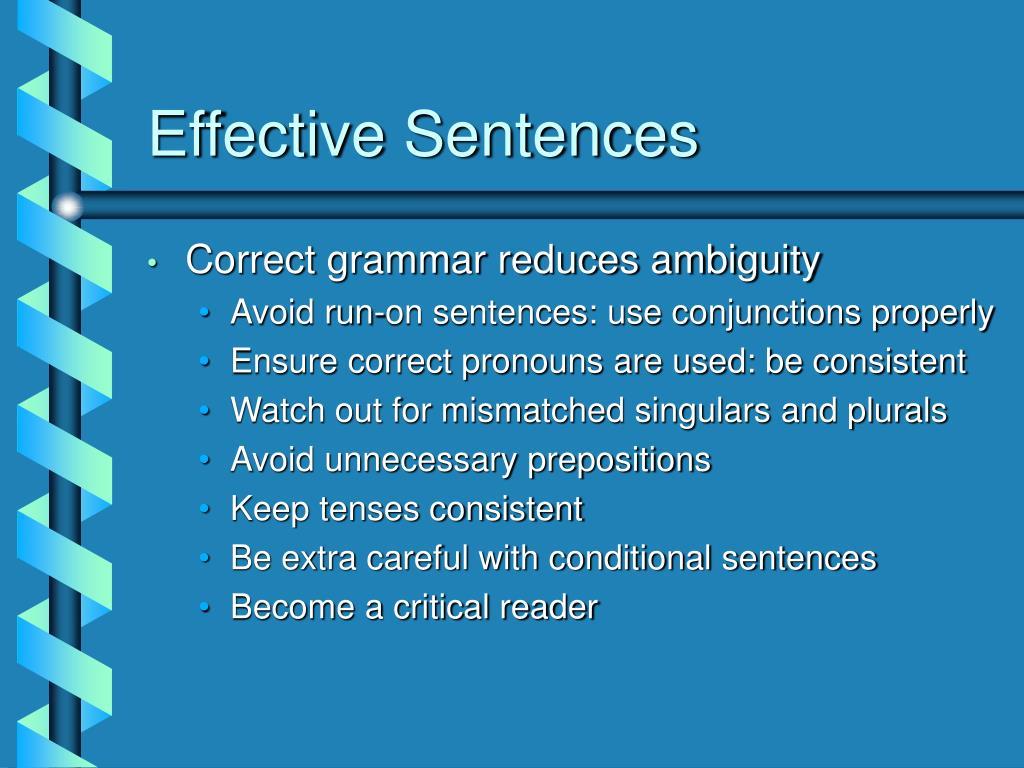 Effective Sentences
