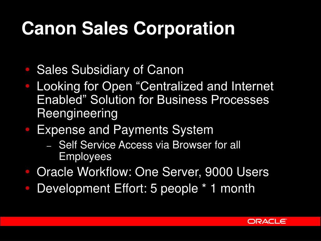Canon Sales Corporation