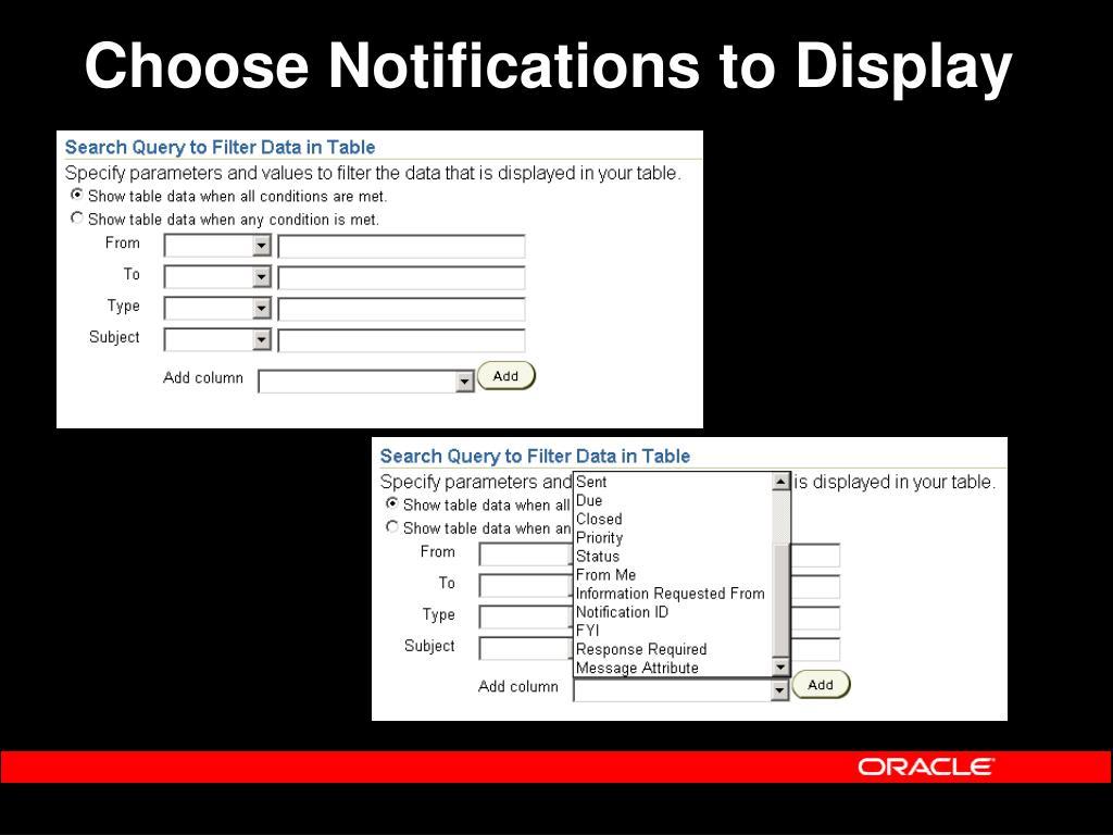 Choose Notifications to Display