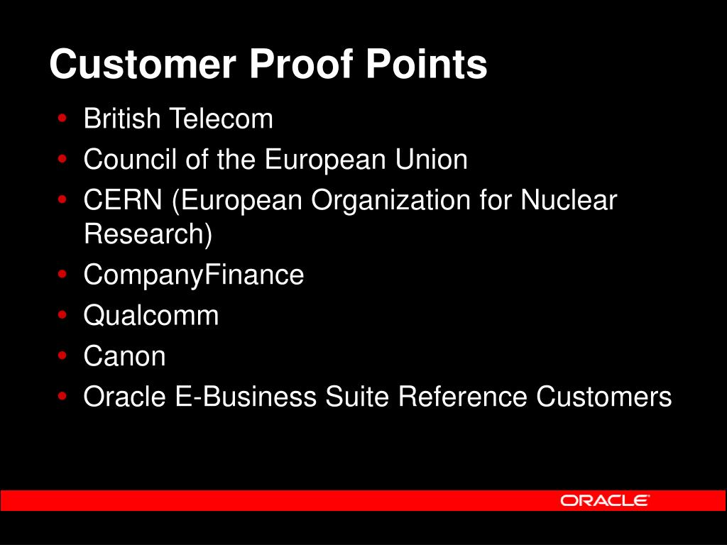 Customer Proof Points