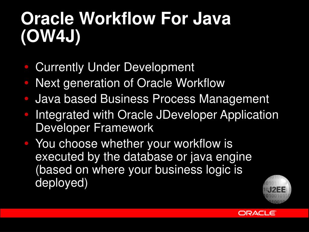 Oracle Workflow For Java (OW4J)