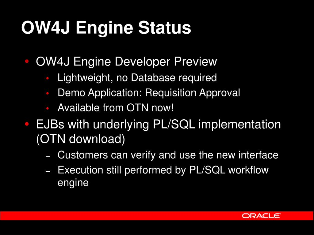 OW4J Engine Status