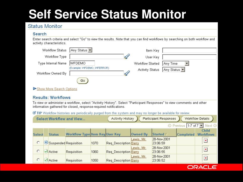 Self Service Status Monitor