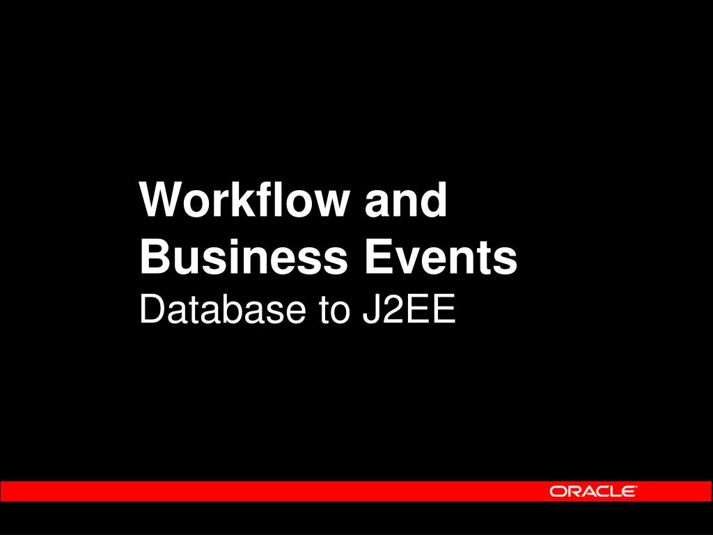 Workflow and Business Events