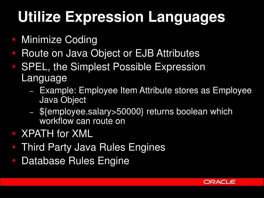 Utilize Expression Languages