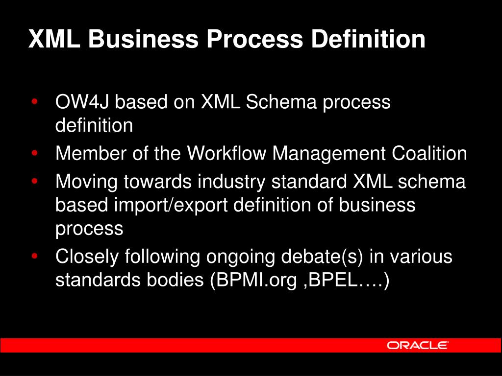 XML Business Process Definition