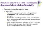 document security issue and technologies document control confidentiality25