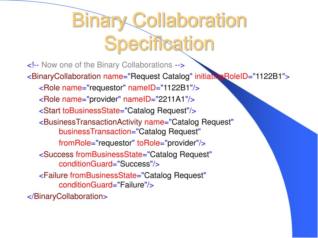 Binary Collaboration Specification