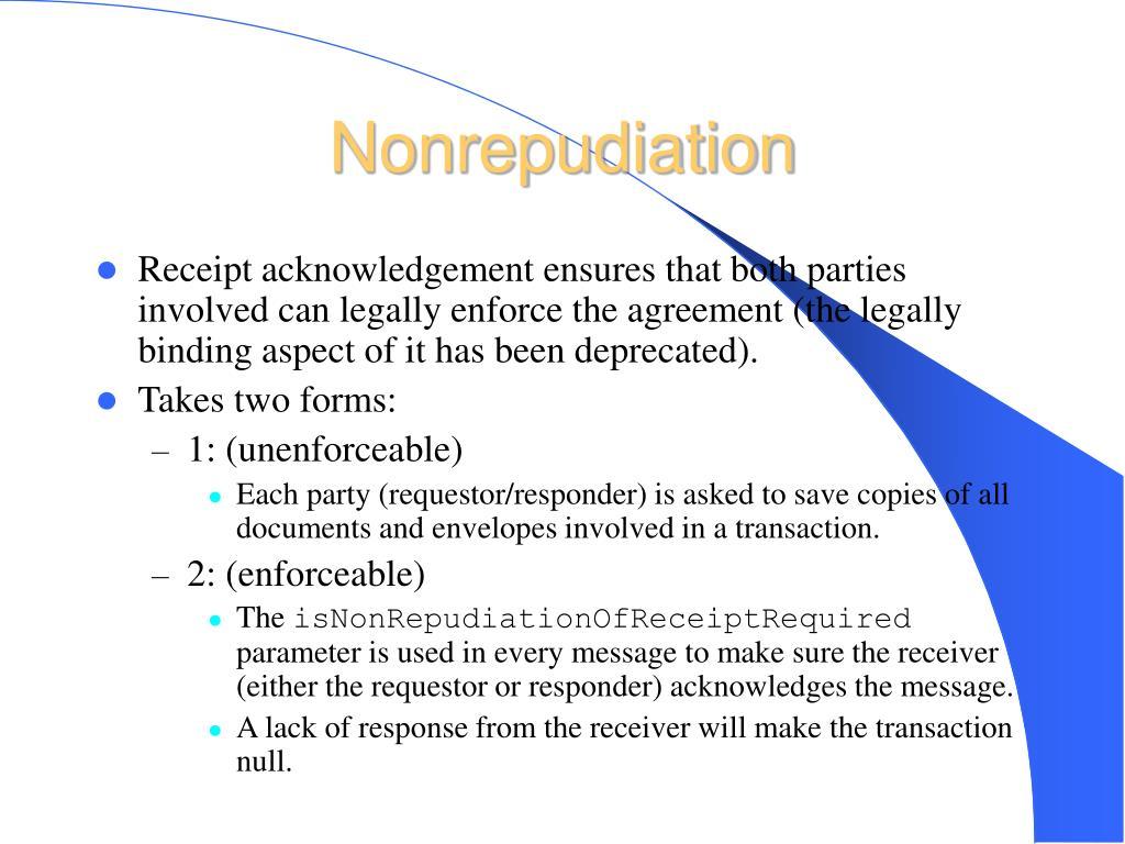 Nonrepudiation