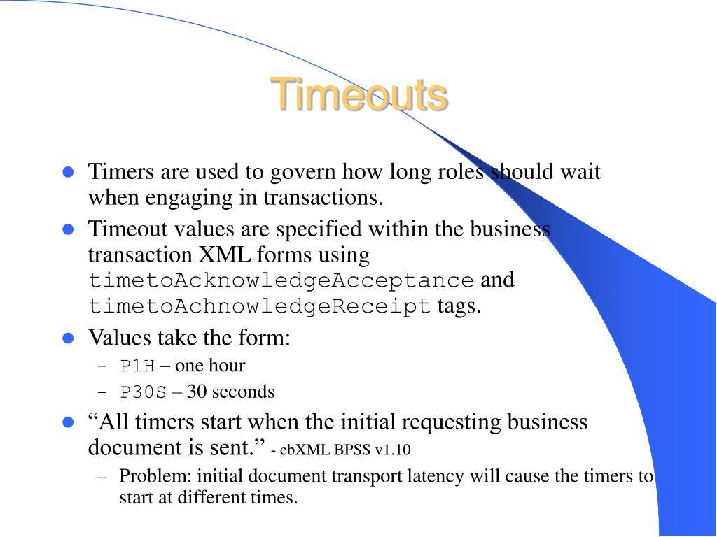 Timeouts