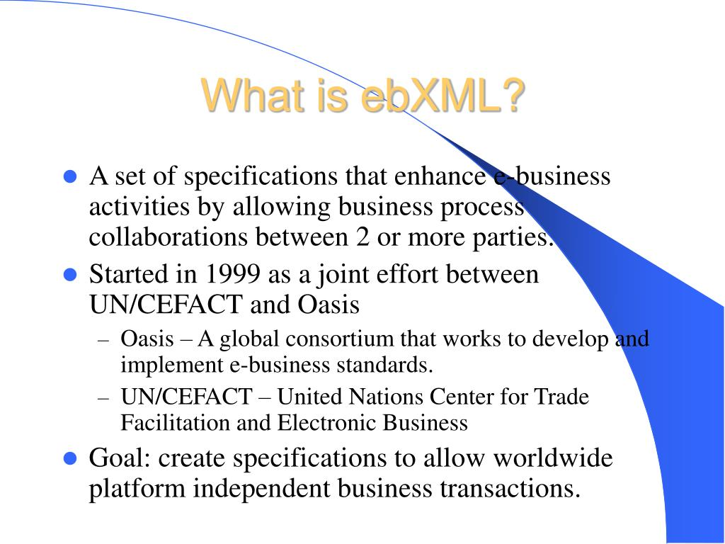 What is ebXML?