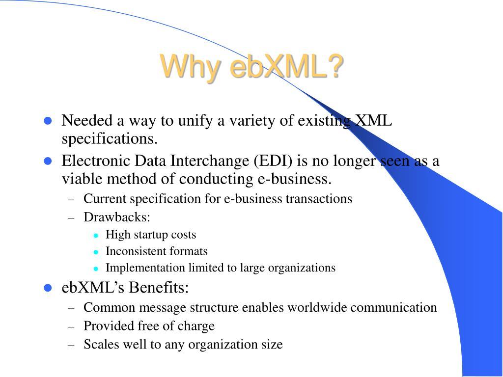 Why ebXML?