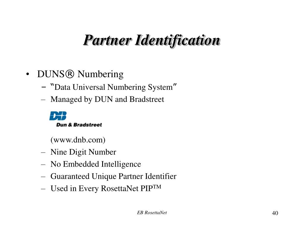 Partner Identification