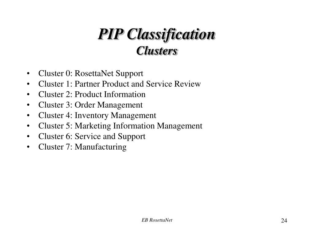 PIP Classification