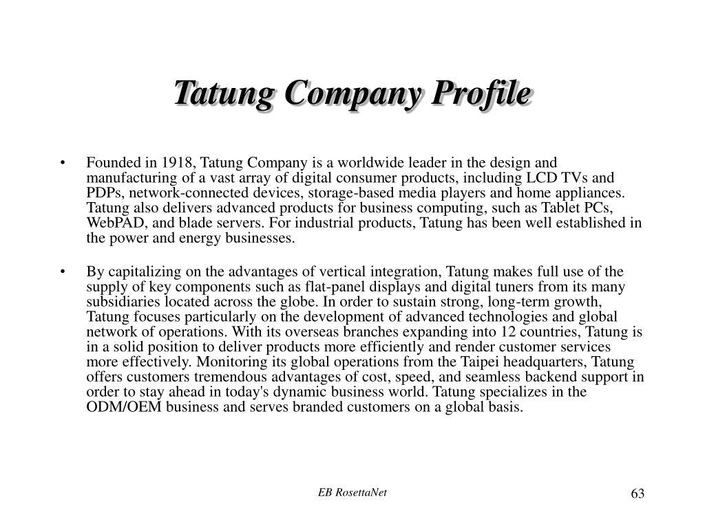 Tatung Company Profile