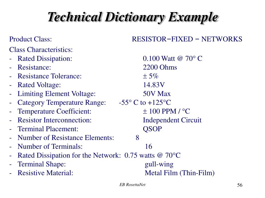 Technical Dictionary Example