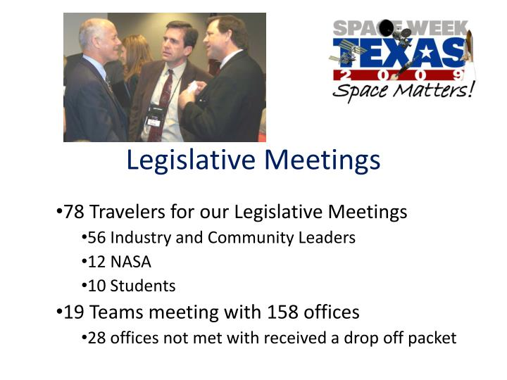 Legislative Meetings