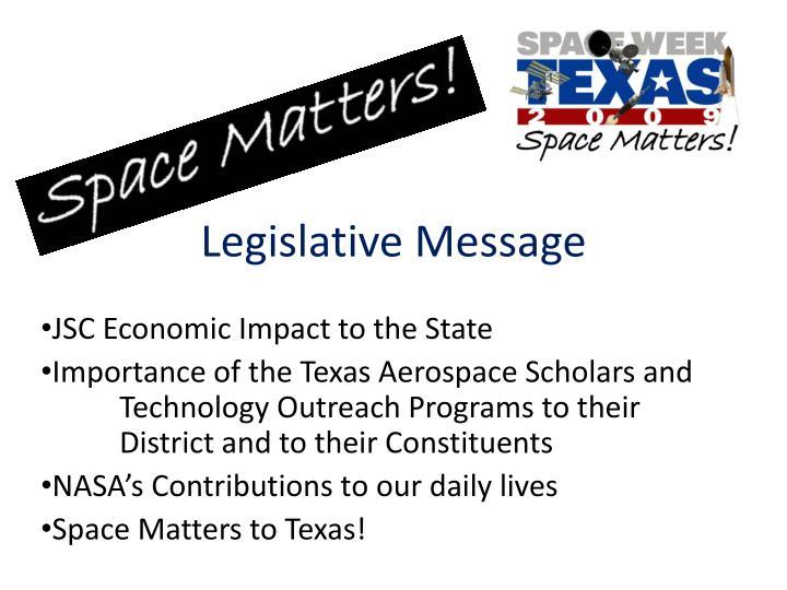 Legislative Message