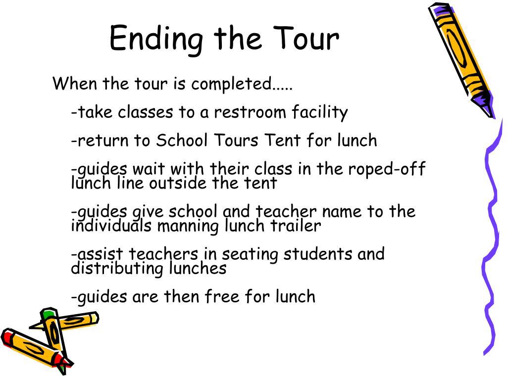 Ending the Tour