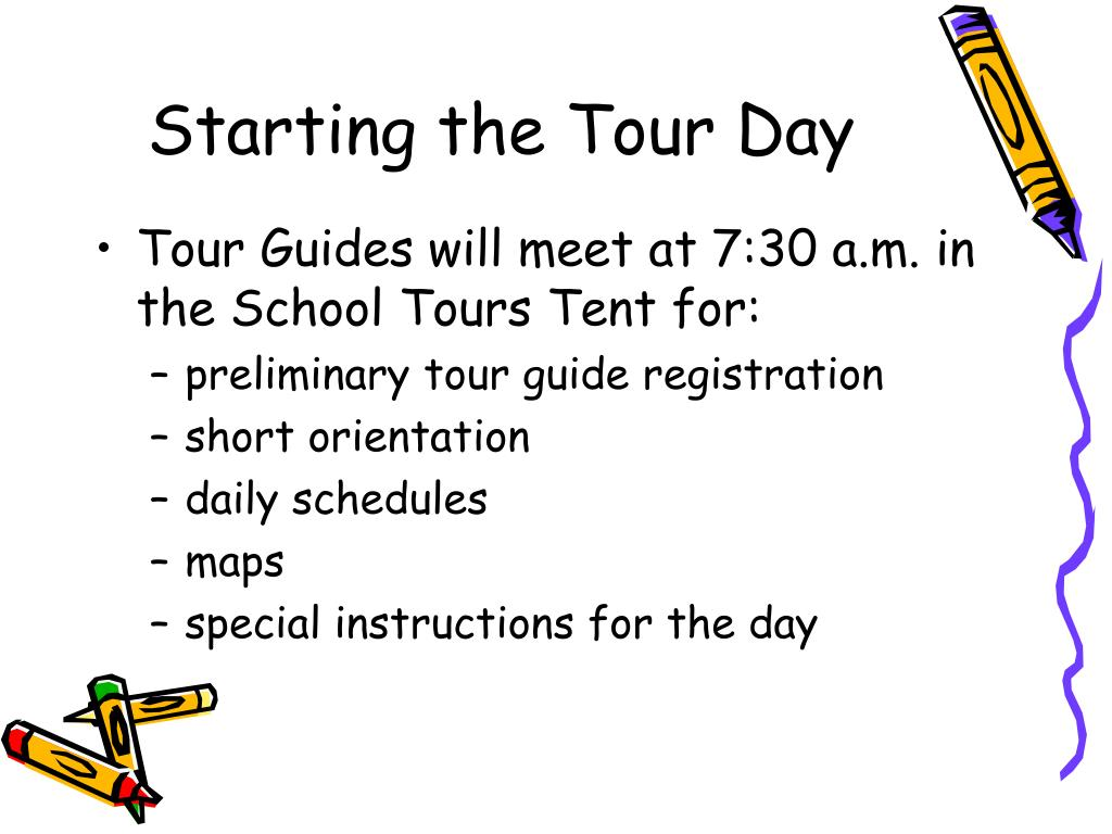 Starting the Tour Day