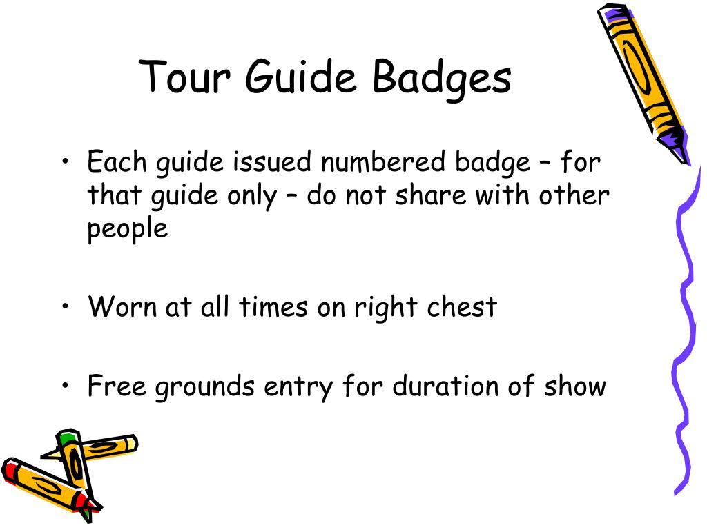 Tour Guide Badges