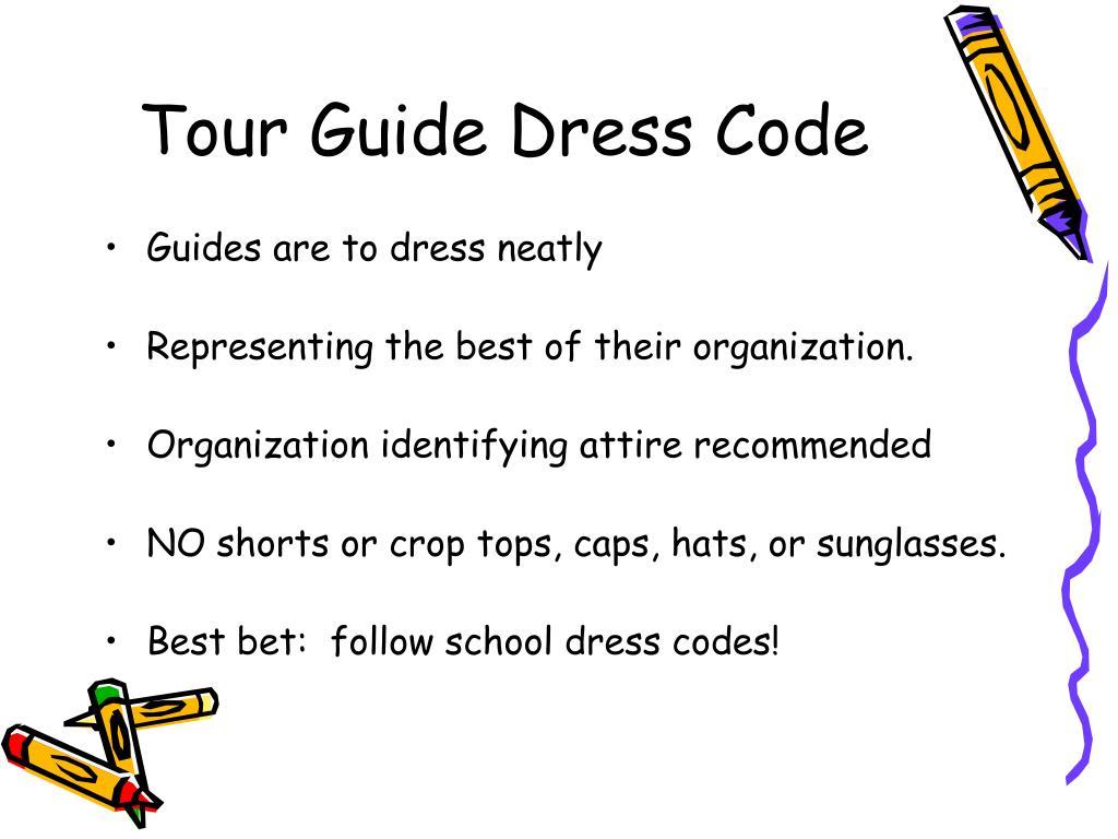 Tour Guide Dress Code