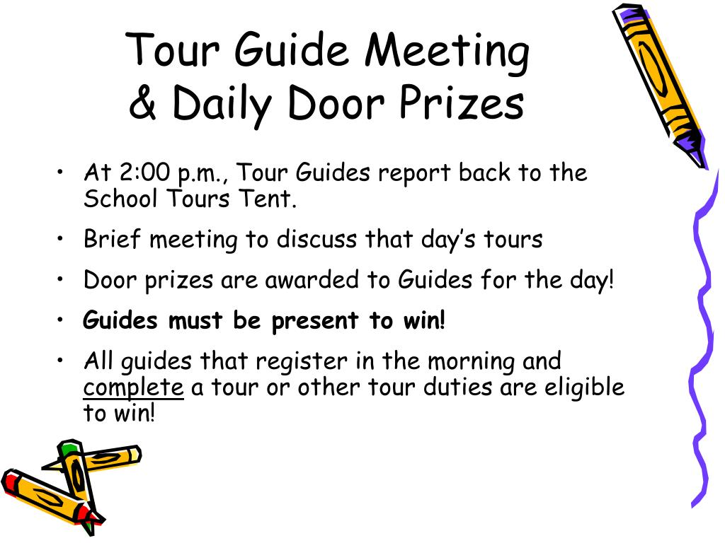 Tour Guide Meeting