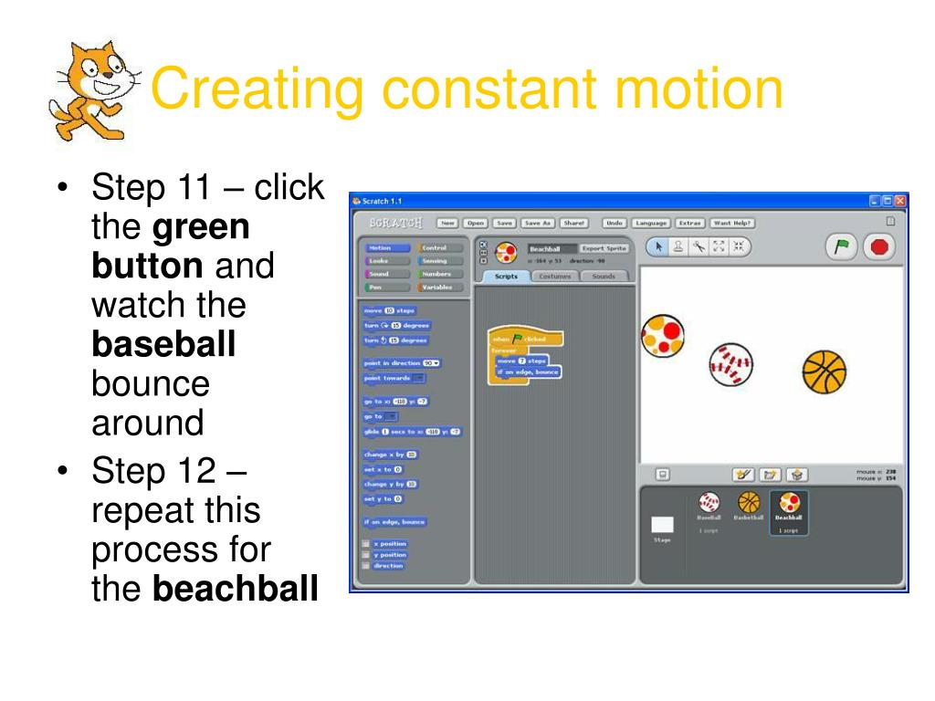 Creating constant motion