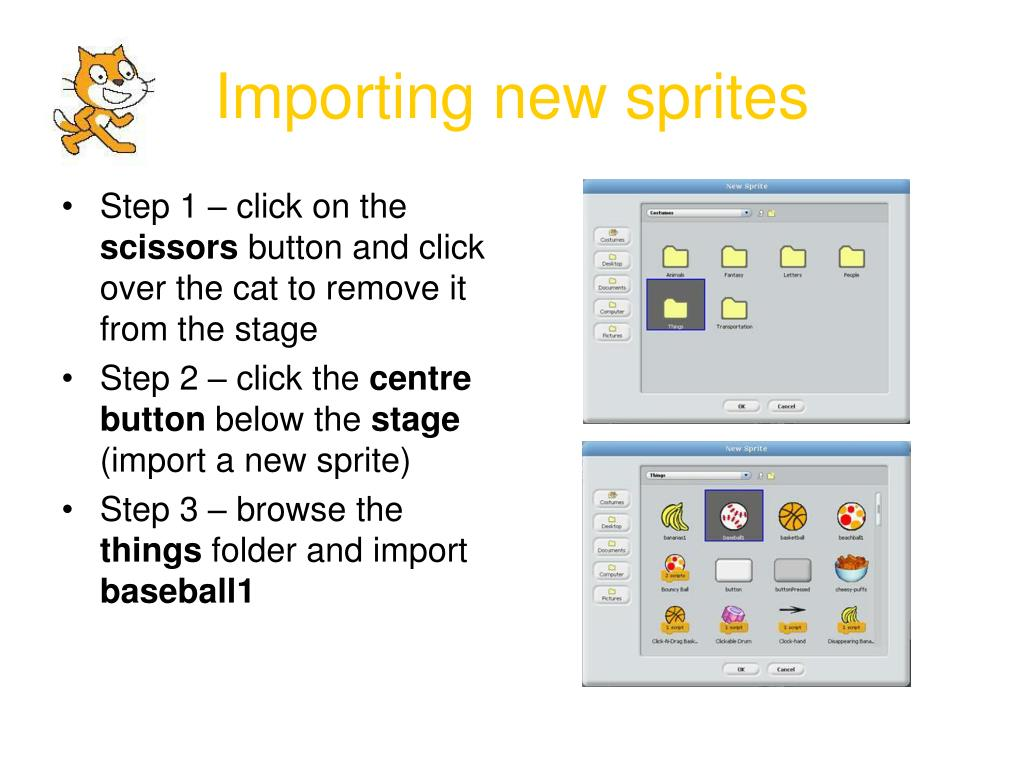 Importing new sprites