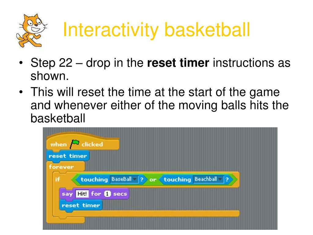 Interactivity basketball