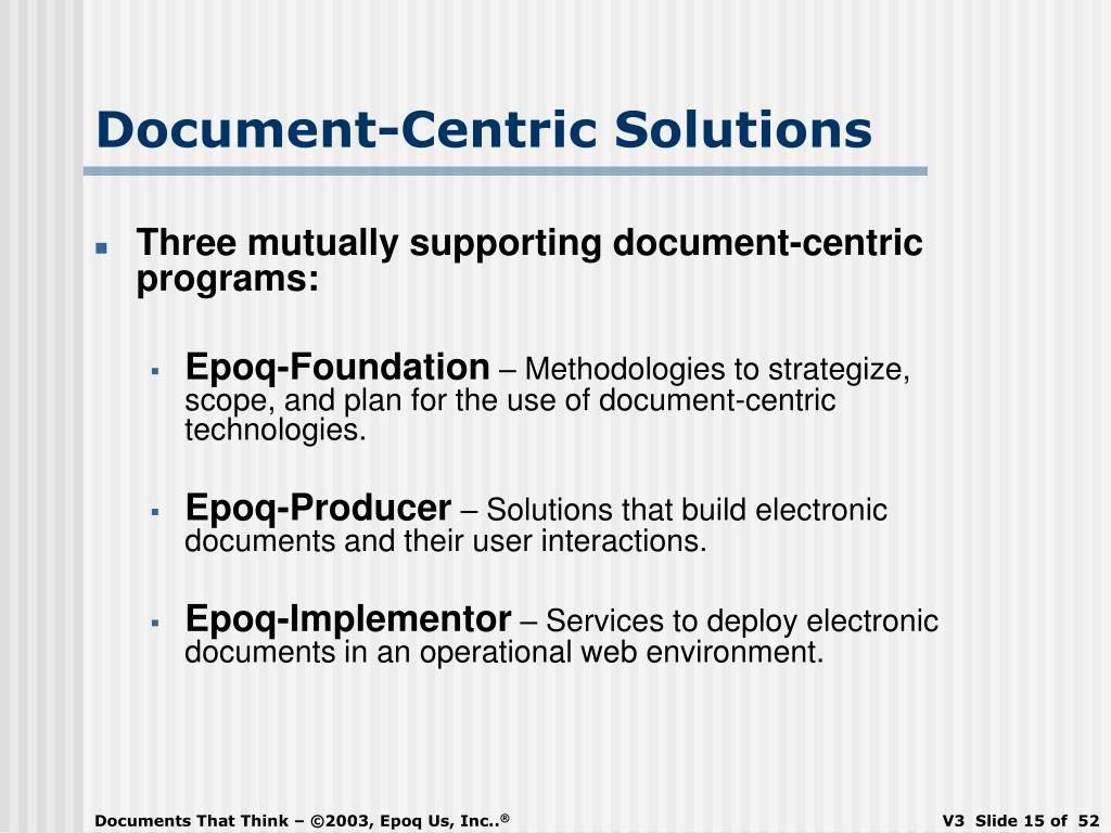 Document-Centric Solutions