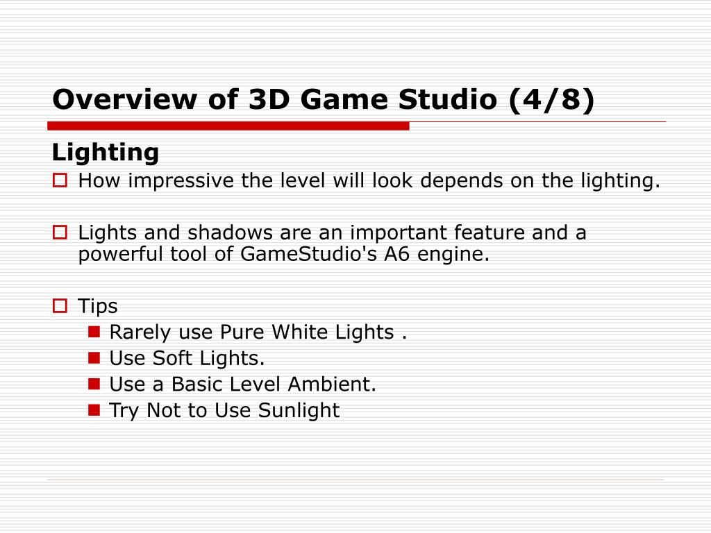 Overview of 3D Game Studio (4/8)
