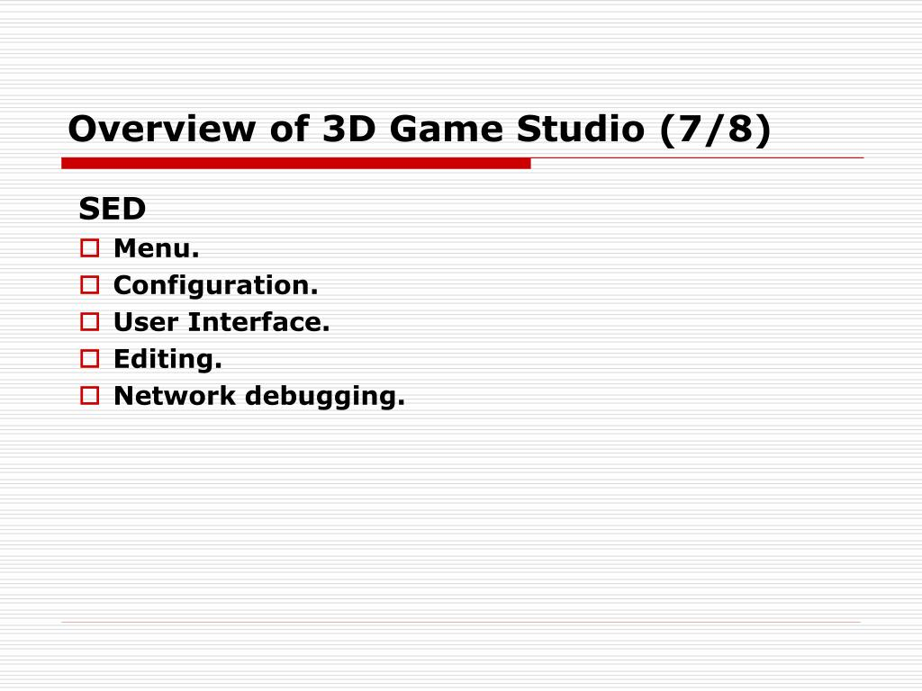 Overview of 3D Game Studio (7/8)