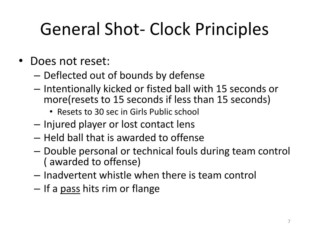 General Shot- Clock Principles