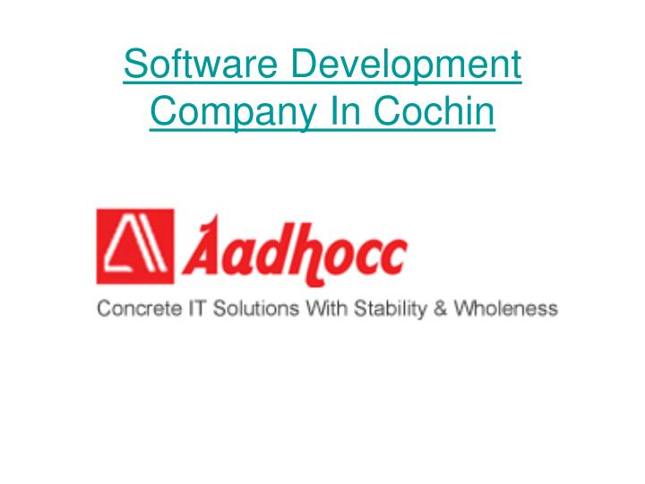 Software development company in cochin