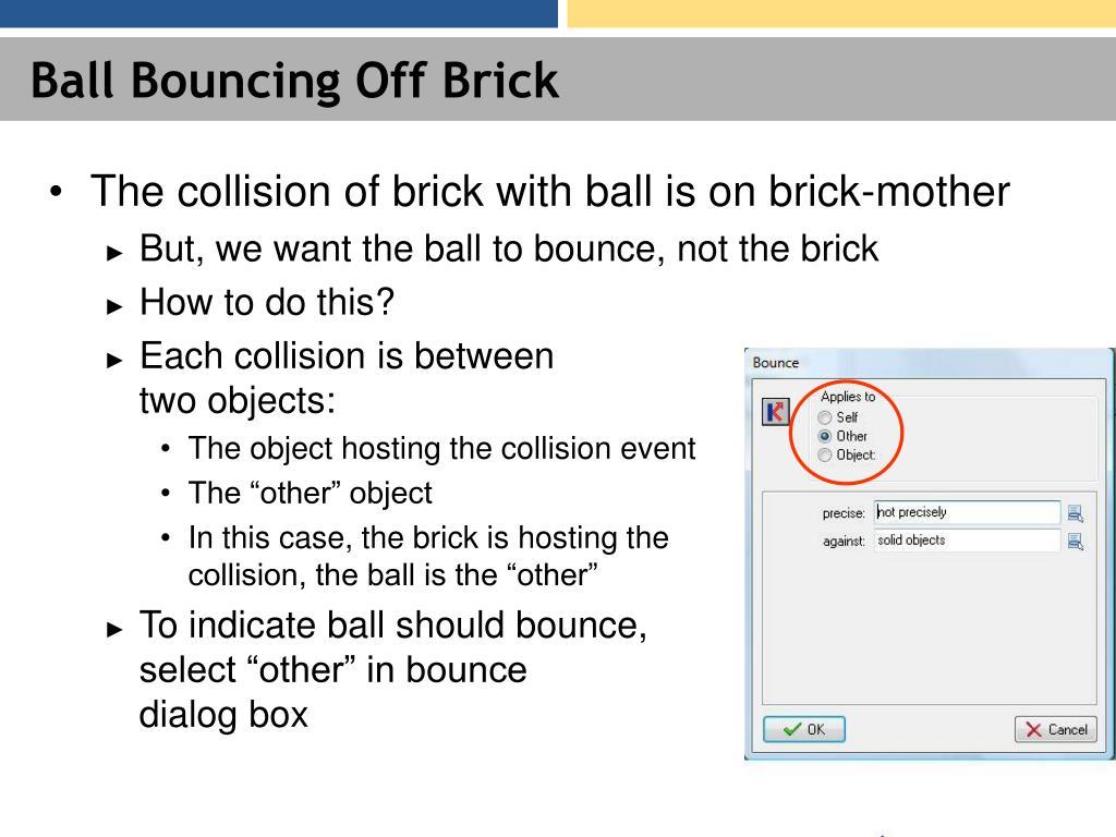 Ball Bouncing Off Brick