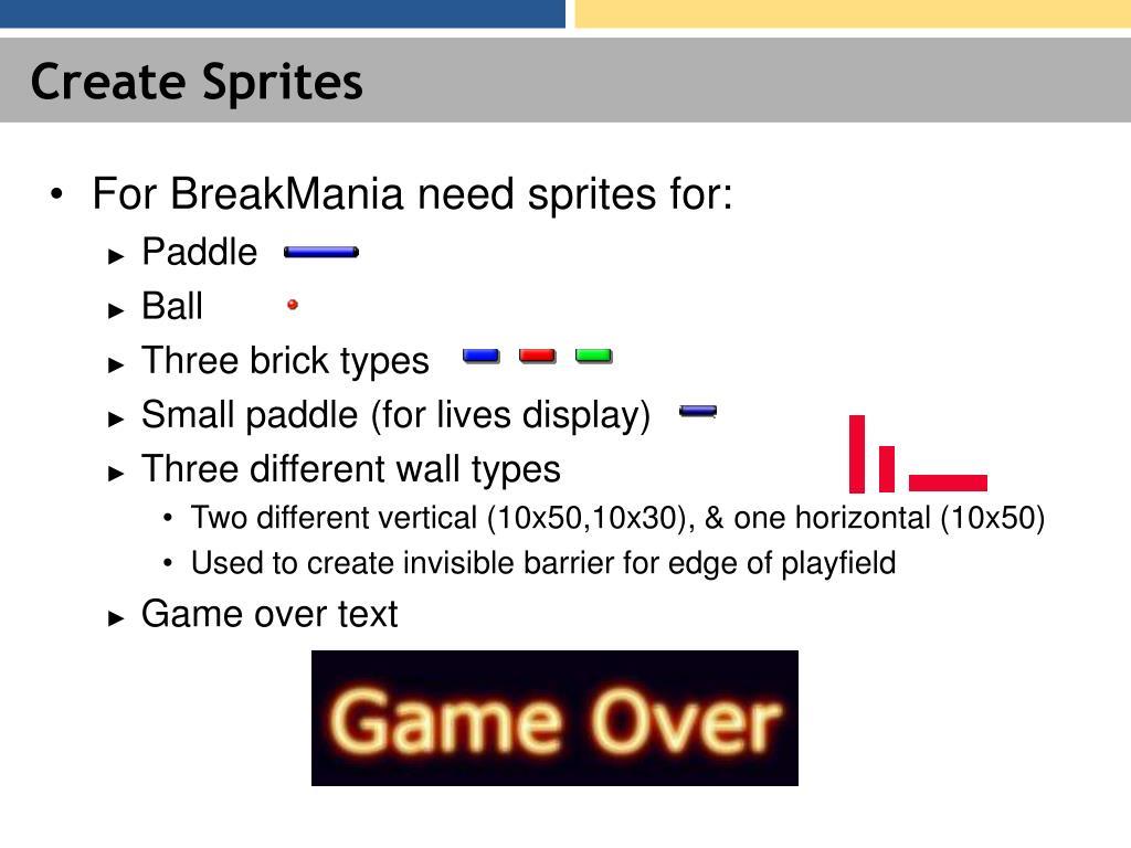 Create Sprites