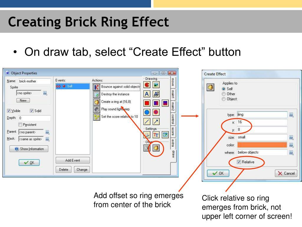 Creating Brick Ring Effect