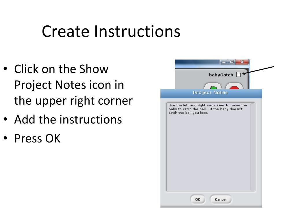 Create Instructions
