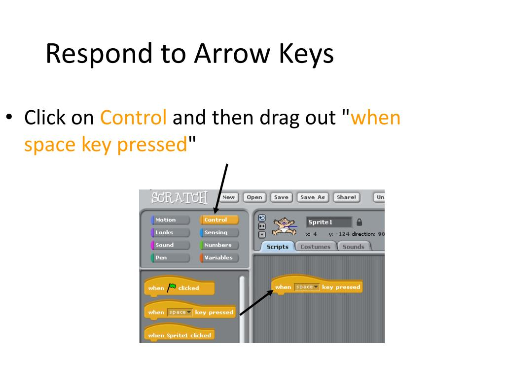 Respond to Arrow Keys