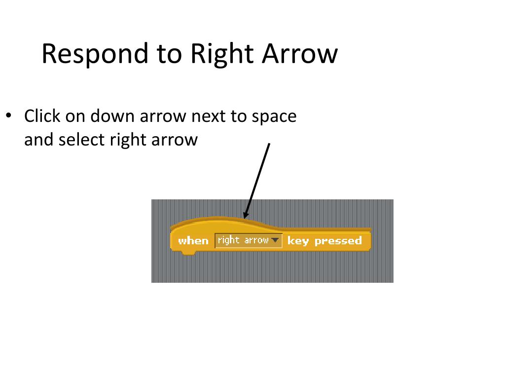 Respond to Right Arrow