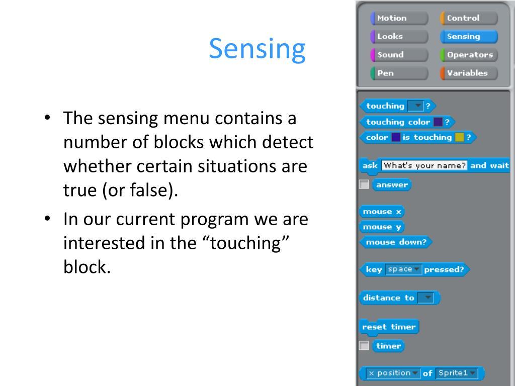 Sensing