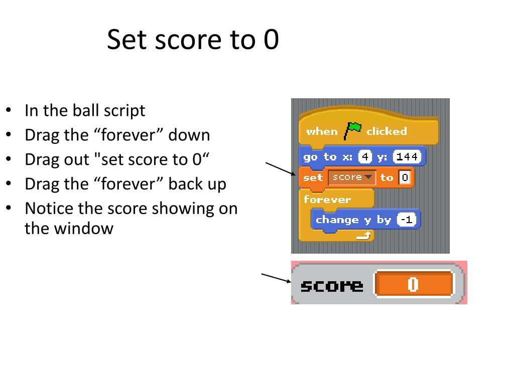 Set score to 0