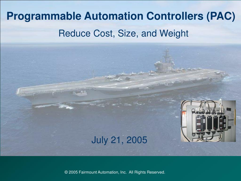 Programmable Automation Controllers (PAC)