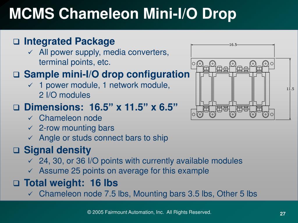 MCMS Chameleon Mini-I/O Drop